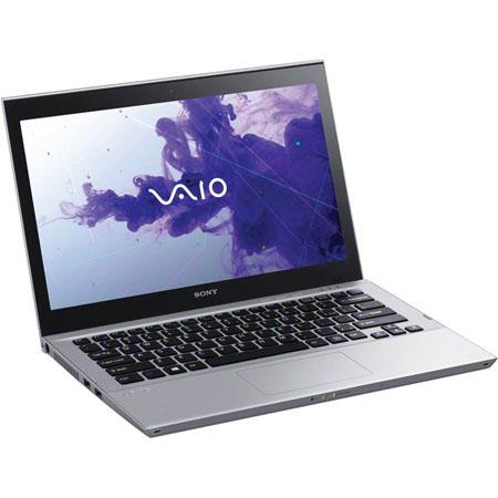 "Sony VAIO T-Series 13.3"" Ultrabook Computer, Intel Core i3-3217U 1.8GHz, 4GB RAM, 500GB 5400rpm HDD + 32GB SDD, Windows 8 64-bit, Silver"