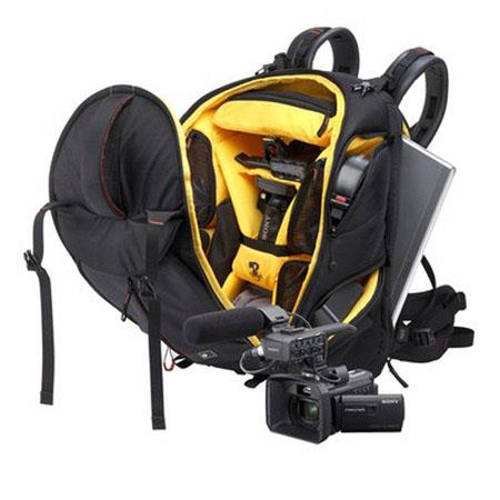 Sony VJBK1TVV Video Journalist Backpack Kit, Includes VAIO Laptop, Camcorder with Projector, Mic Package, Headphone, Mic, Xperia Tablet, Tripod, Light