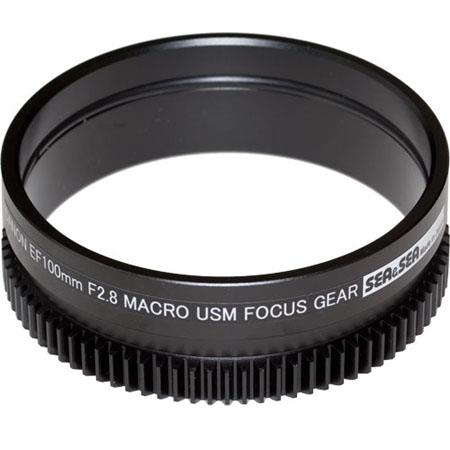 Sea & Sea Focus Gear for the Canon 100mm f/2.8 USM Macro Auto-Focus Lens, Works with #56231 NX Custom Flat Port, #50261 SX Extension Ring & #51101 NX Zo