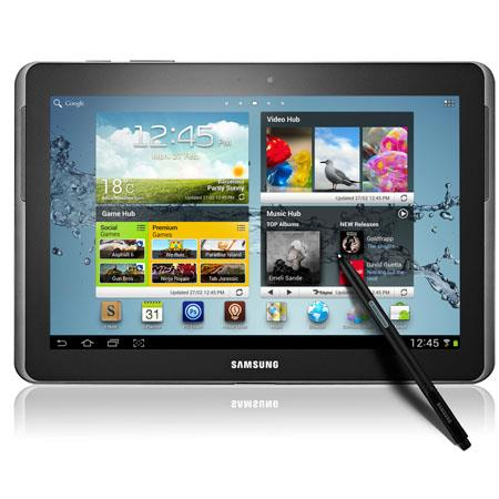"Samsung 32GB Galaxy Note 10.1"" Tablet, Samsung Quad-Core 1.4 GHz Processor, 2GB RAM, 32GB Flash Memory, Android 4.1 Jelly Bean"