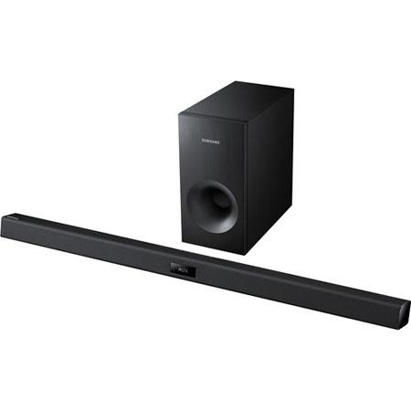 Samsung HW-F355 2.1 Channel Soundbar System with Subwoofer, 120W Total Power, Bluetooth