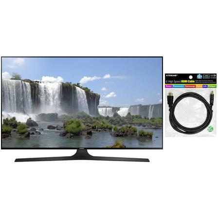 "Samsung UN55J6300 55"" Class Full HD 1080p Smart LED TV, 120 Motion Rate, Quad-Core Processor, 4x HDMI /3x USB, Built-In Wi-Fi, Dual 10W Speakers - Bundle With Xtreme Cables HDMI 1.4 Audio/Video Cable 6 Feet"