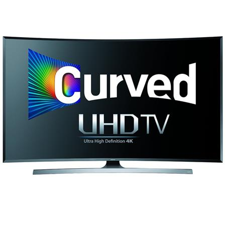 """Samsung UN55JU7500 55"""" Class 4K UHD 3D Curved Smart LED TV, 240 Motion Rate, Wi-Fi, 3D Active Glasses Included"""