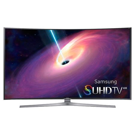 """Samsung UN65JS9000 65"""" Class 4K SUHD 3D Curved Smart LED TV, 240 Motion Rate, Wi-Fi, 3D Active Glasses Included"""