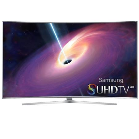 """Samsung UN65JS9500 65"""" Class 4K SUHD 3D Curved Smart LED TV, 240 Motion Rate, Wi-Fi, 3D Active Glasses Included"""