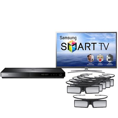 "Samsung 51"" Class Full HD 1080p 3D PDP Plasma HDTV, 2 3D-Glasses - Bundle - with Six (6) Additional Samsung SSG-4100GB 3D Glasses (Total 8) and Samsung BD-"