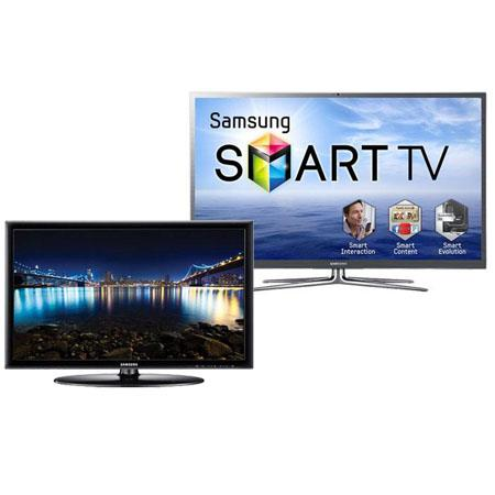 "Samsung PN64E8000 64"" Class 3D Plasma TV with Full HD 1080p - Bundle - with Samsung 22"" Class LED HDTV, 1080p Resolution"