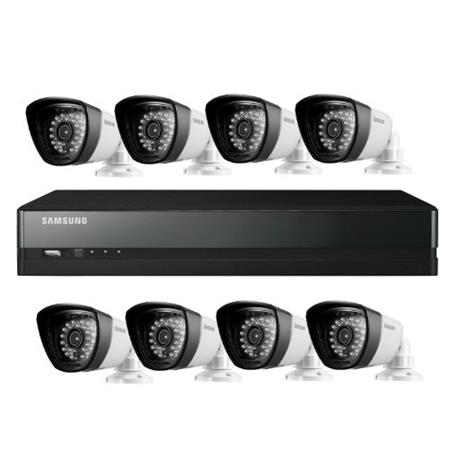 Samsung SDS-P5082 8 Camera 16 Channel 960H DVR Security System with Built-In 1TB HDD, 720 TVL High Resolution, 28 IR LEDs with 82' Night Vision Range