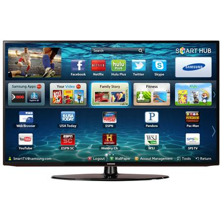 "Samsung 40"" Class 1080p LED Smart HDTV, Wi-Fi Built-in, 60Hz Refresh Rate, 120 Clear Motion Rate, Wide Color Enhancer Plus"
