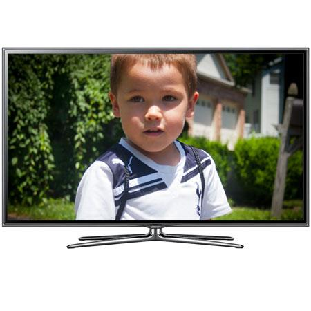 "Samsung 46"" Class 1080p Slim LED HDTV, Wi-Fi Built-in, 120Hz Refresh Rate, 480 Clear Motion Rate, 4 Pairs of 3D Active Glasses Included"