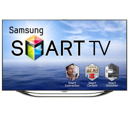 "Samsung 55"" LED Flat Panel 3D HDTV with 1080p Resolution, 240Hz Refresh Rate, 16:9 Aspect Ratio, Built-in WiFi, 960 Clear Motion Rate, Silver"