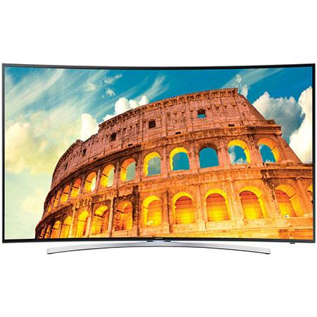 "Samsung H8000 Series 55"" Class Full HD 1080p 3D LED Smart TV, 1200 CMR, Dual Screen, Curved Panel, DTS Premium Sound 5.1, 4 HDMI/3 USB, Wi-Fi"