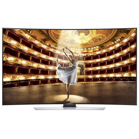"Samsung HU9000 Series 55"" Class Full HD 4K 3D LED TV, 1440 CMR, Quad Core Plus, Curved Panel, DTS Premium Sound 5.1, 4 HDMI/3 USB, Wi-Fi"