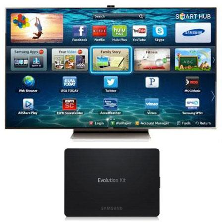 "Samsung 75"" Class (74.54"" Diagonal) Slim LED 3D HDTV - Bundle - with Samsung SEK-1000 Smart Evolution Kit"