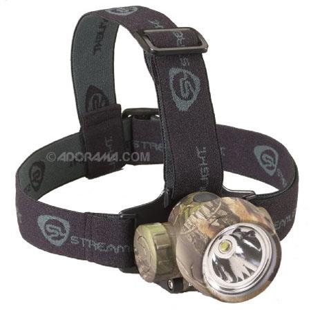 Streamlight 61081 Trident HP Lightweight Headlamp with Straps, High Power White Light Center LED and 3 Green LEDs - Realtree Hardwoods Green Camo