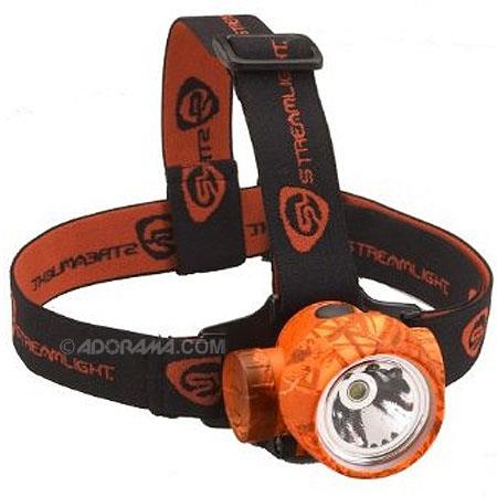 Streamlight 61082 Trident HP Lightweight Headlamp with Straps, High Power White Light Center LED and 3 Green LEDs - Realtree Hardwoods Blaze Camo