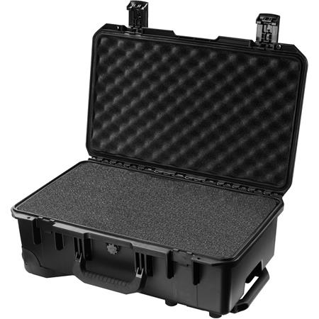 Pelican iM2500 Case with Wheels, Watertight, Padlockable Case, with Multilayer Cubed Foam Interior, Black