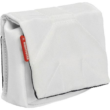 Manfrotto Stile MBSCP-3SW Nano III Camera Pouch for Point and Shoot Digital Camera, White