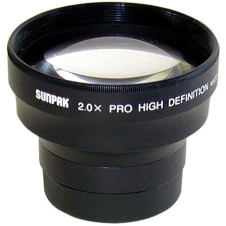 Sunpak 2x Tele Converter Lens fits 37mm Threads, with Pouch. image
