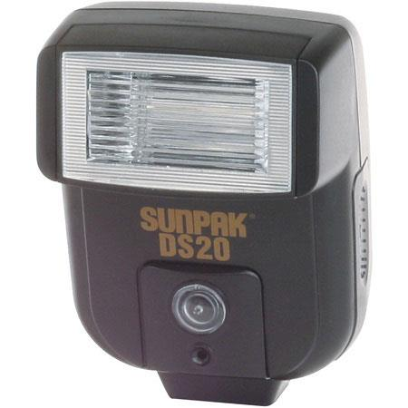 Sunpak DS-20 5-Position Bounce-Tilt Shoe Mounted Slave Flash with Wireless Auto Slave. image