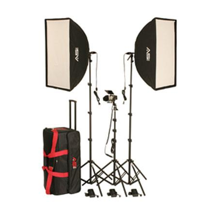 "Smith-Victor KSBQ-2600 Pro Softbox 3 Light Kit with Accent Light, 24x32"" All-In-One Soft Box Light"