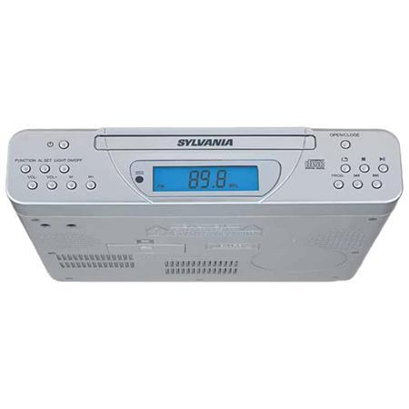 sylvania skcr2613 picture 1 regular Under Cabinet CD Player Walmart under cabinet clock radio cd player