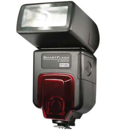 Phoenix Digital SmartFlash PZ139 Power Zoom, Bounce Shoe Mount ETTL II Flash for Canon SLR's, Guide Number 139