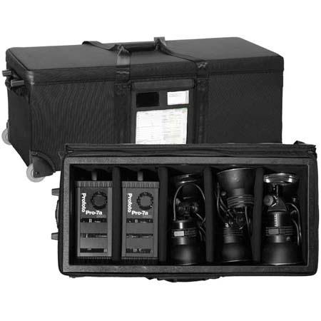Tenba AT-AW-5LS Five Light Head Topload Air Case with Wheels, & Room for 1-2 Power Packs, Light Stands, Collapsible Light Modifiers & Accessories