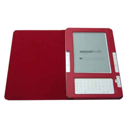 TrendyDigital MaxGuard Plus Amazon Kindle Cover, Fits 2nd Generation Kindle, with Embedded Corner Closure, Red image