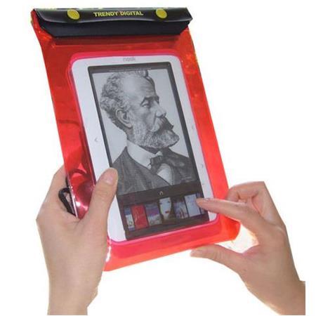 TrendyDigital WaterGuard Waterproof Case for Barnes & Noble Nook, Red Border image