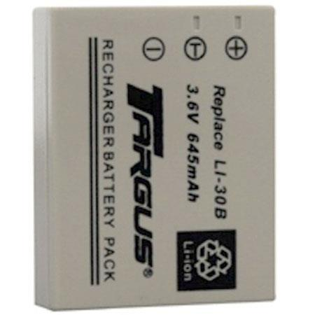 Targus Lithium-Ion Rechargeable Battery, Replacement for Olympus LI30B Digital Camera Battery, 650 mAh 3.6v