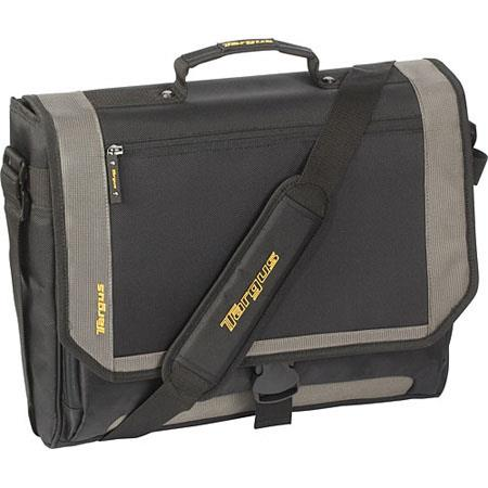 "Targus TCG200 17"" CityGear, Miami Messenger Nylon Laptop Case, Black/Yellow image"