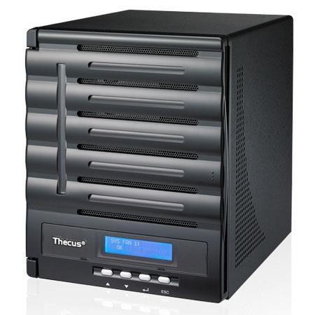 Thecus N5550 NAS Server, Intel Atom Processor, 2GB DDR3 RAM, USB 3.0 Interface, HDMI Output, 1GB SATA DOM