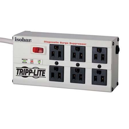 Tripp Lite Isobar 2350 Joules Surge Suppressor for Premium Surge, Spike & Line Noise Protection, 6 Outlets