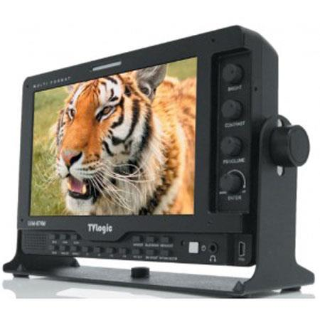 "TV Logic LVM-074W 7"" Multi-Format HD LCD Monitor, 1024x600(16:9) Resolution, 800: 1 Contrast Ratio, 400 cd/m2;(Center) Luminance"