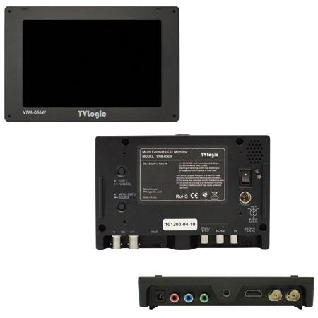 "Discount Electronics On Sale TVLogic VFM-056WP 5.6"" LCD HD/SD-SDI HDMI Monitor with Waveform, 1280x800 Resolution, 500:1 Contrast Ratio, 300 cd/m2 (Center) Luminance"