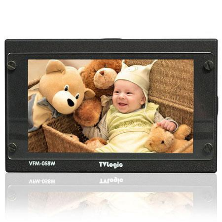 "TV Logic VFM 058W 5.5"" 1080p Full HD Viewfinder Monitor, 1000:1 Contrast Ratio, 450cd/m2 Luminance, HDMI"