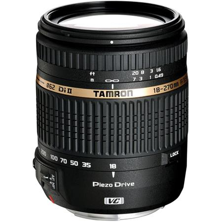 Tamron 18-270mm F/3.5-6.3 DI-II VC PZD Lens, Piezo Drive Ultrasonic Motor Aspherical (IF) AF Zoom, for Canon EOS Digital SLRs