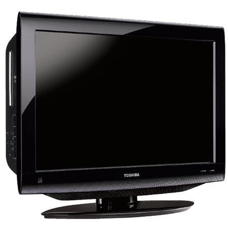 "Toshiba 26CV100U 26"" 720p LCD DVD Combo TV with Built-In ATSC/NTSC/QAM Digital Tuning - Black Gloss image"