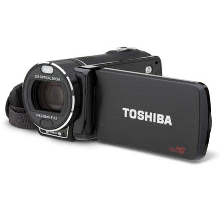 "Toshiba CAMILEO X400 Full HD 1080p Camcorder, 5MP BSI CMOS Image Sensor, 3"" LCD Touch Screen, 23x Optical & 120x Digital Zoom, Built-in Microphone"