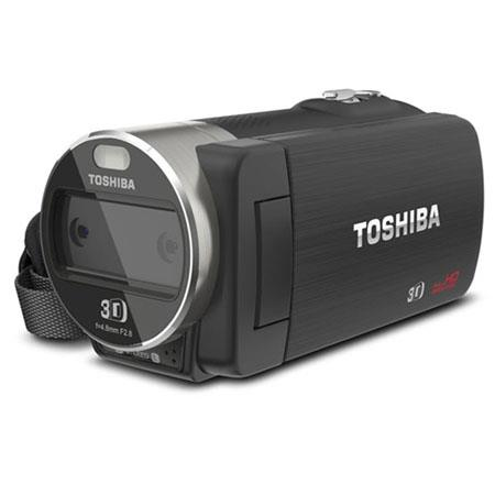 "Toshiba CAMILEO Z100 Full HD 3D Camcorder, Dual 5MP BSI CMOS Image Sensors, Glasses-Free 2.8"" 3D LCD Touch Display, 3D: 4x & 2D: 10x Digital Zoom"
