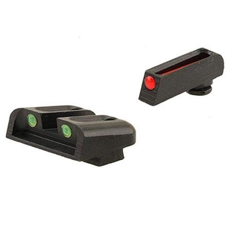 TruGlo Brite Site Fiber Optic Sight Set for Kimber Handguns, Red Front/Green Rear.