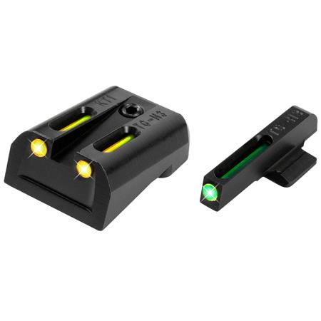 TruGlo Brite-Site Tritium Fiber Optic Sight Set for Kimber, Green Front/Yellow Rear