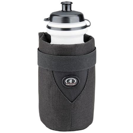 Tamrac MX5398, MAS Water Bottle Carrier, Belt Style Pouch with Water Bottle, Pouch Color is Black.