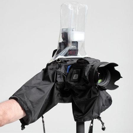 Think Tank Hydrophobia Flash 70-200 2.8, Rain Cover for Pro Size DSLR with up to a 70-200 2.8 Lens with On-Camera Flash