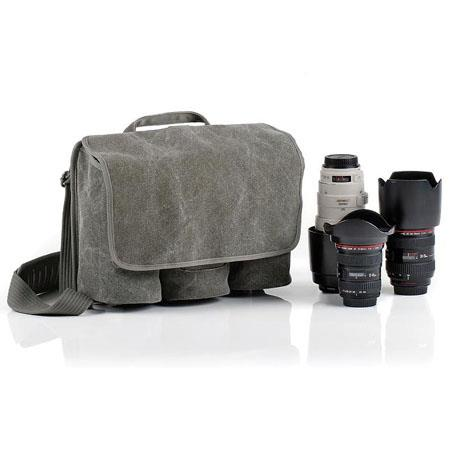 Think Tank Retrospective Lens Changer 3-GR - Three Lens Bag - Pinestone Cotton Canvas image