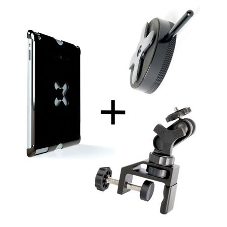 Tether Tools WUA1GRY25 iPad Utility Mounting Kit, Includes Wallee iPad Air Case, EasyGrip LG Clamp, Connect Lite, Gray