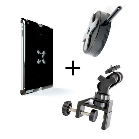 Tether Tools WUA1GRY40 iPad Utility Mounting Kit, Includes Wallee iPad Air Case, EasyGrip XL Clamp, Connect Lite, Gray