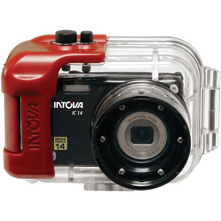 Intova IC14 14MP Digital Camera with Waterproof Housing, 2.7 inch LCD Display, SDHC Memory Card Slot, 5x Optical Zoom