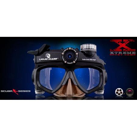 Liquid Image HD Scuba Series 5.0 Megapixel Wide Angle Camera Mask, Xlarge image